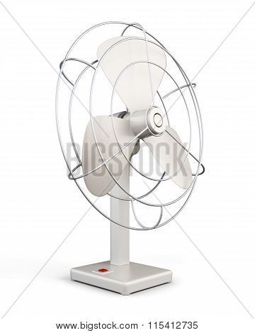 Table fan. 3d rendering.