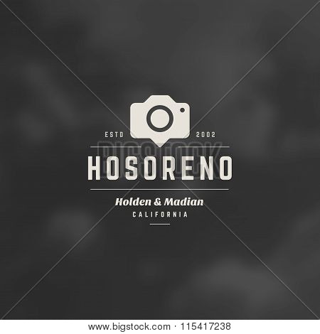 Photographer Logo Template. Vector Design Element Vintage Style for Logotype