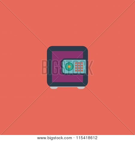 Safe money. Colorful vector icon. Simple retro color modern illustration pictogram. Collection concept symbol for infographic project and logo