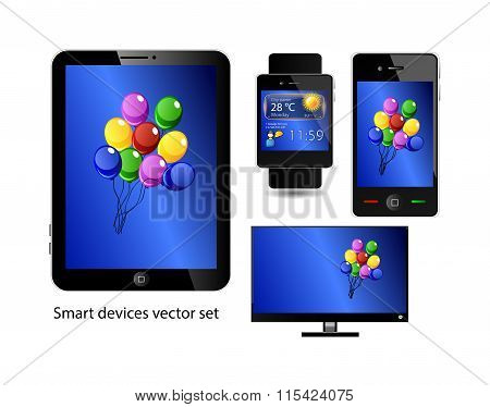 Set Of Smart Devices