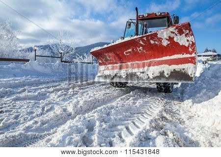Snow Plough Heavy Machine For Road Cleaning