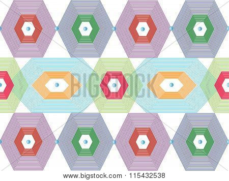 Multicolored patterned background