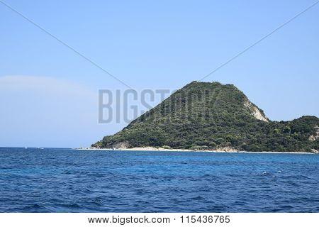 Small rocky island in the Aegean Sea, near Greece, Europe