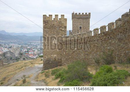 The walls of the Consular castle. Sudak