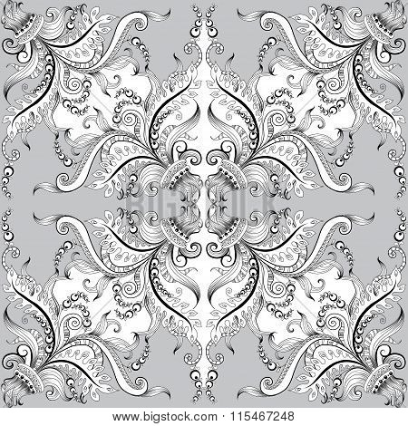 Background with hand-drawing decorative ornaments
