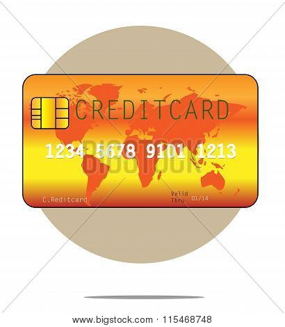 Illustration Of A Creditcard With Circle Background