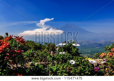 Double Volcano View From Hilltop, Antigua, Guatemala