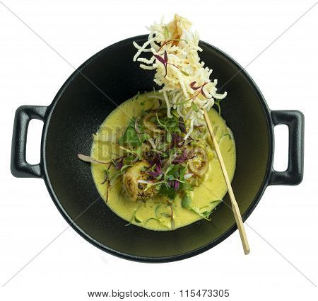 Pan-fried scallop thai style