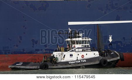Tugboats are powerful for their size and strongly built