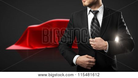 Businessman And Car Presentation