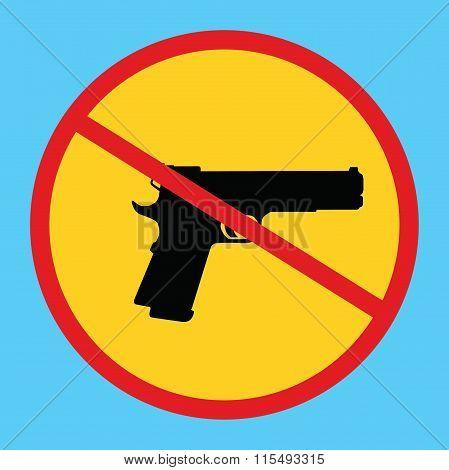 gun ban forbidden concept icon isolated weapon control