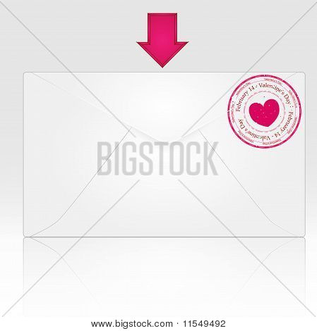 Love mail envelope heart