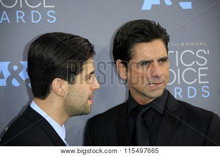LOS ANGELES - JAN 17:  Josh Peck, John Stamos at the 21st Annual Critics Choice Awards at the Barker Hanger on January 17, 2016 in Santa Monica, CA