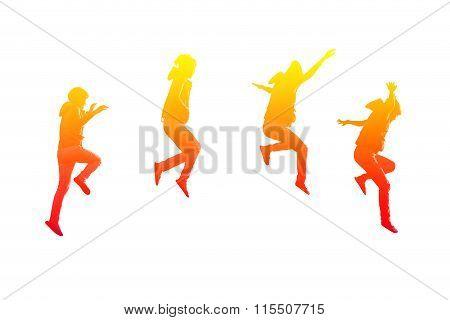Steps Of Girl Jumping