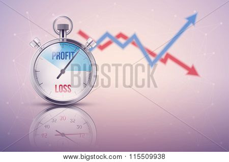 Background of stopwatch for forex trader.