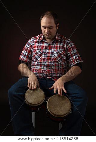 Musician With Bongo