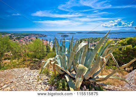 Panoramic View On Hvar Island Coast
