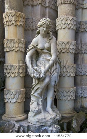 Nymph with sea shell, Zwinger Palace