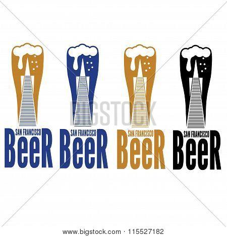 Beer Of San Francisco Concept .bank Of America Building