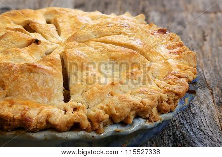Whole baked apple pie
