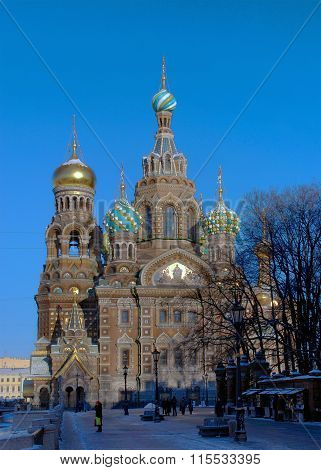 Saint Petersburg. The Temple of the Resurrection ((Savior-on-Spilled-Blood)