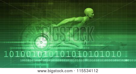 Electronic Technology Abstract as a Art Concept