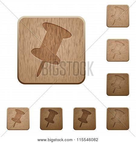 Pin Wooden Buttons