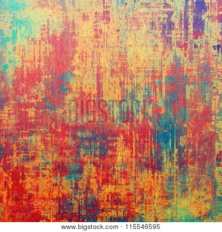 Grunge aging texture, art background. With different color patterns: yellow (beige); blue; red (orange); green; pink