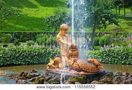 Peterhof. Russia. The Triton Fountain