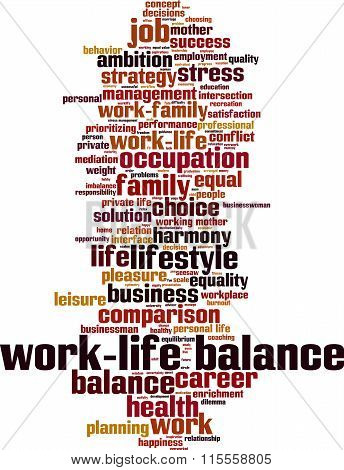 Work-life Balance Word Cloud