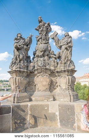 Statues Of Madonna With St. Dominic And St. Thomas Aquinas - Prague