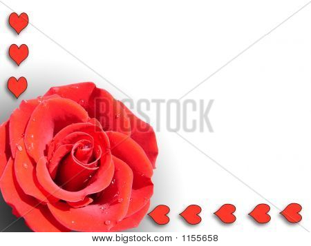 Rose And Hearts Left