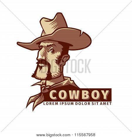 Head With Cowboy Hat