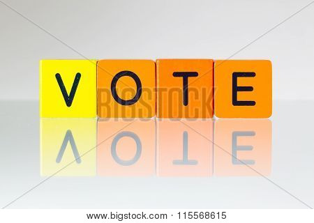 Vote - An Inscription From Children's Blocks