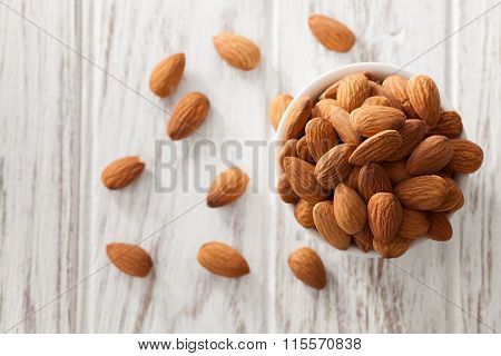 Almond Nut Organic Healthy Snack Vegan Vegetarian White Background