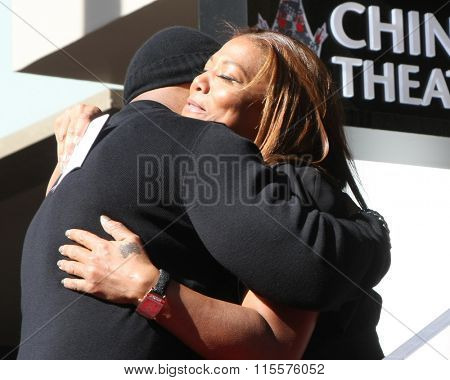 LOS ANGELES - JAN 21:  LL Cool J, Queen Latifah at the LL Cool J Hollywood Walk of Fame Ceremony at the Hollywood and Highland on January 21, 2016 in Los Angeles, CA