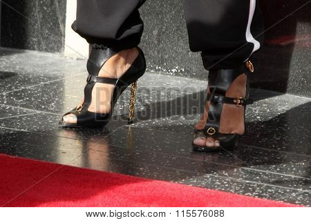 LOS ANGELES - JAN 21:  Queen Latifah at the LL Cool J Hollywood Walk of Fame Ceremony at the Hollywood and Highland on January 21, 2016 in Los Angeles, CA