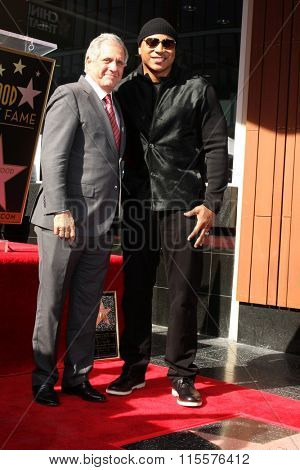 LOS ANGELES - JAN 21:  Les Moonves, LL Cool J at the LL Cool J Hollywood Walk of Fame Ceremony at the Hollywood and Highland on January 21, 2016 in Los Angeles, CA