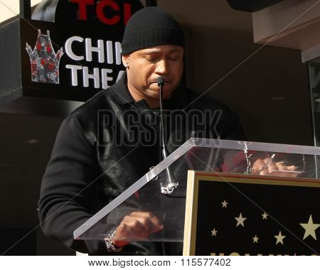 LOS ANGELES - JAN 21:  LL Cool J at the LL Cool J Hollywood Walk of Fame Ceremony at the Hollywood and Highland on January 21, 2016 in Los Angeles, CA