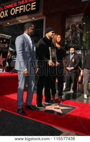 LOS ANGELES - JAN 21:  Sean Combs, LL Cool J, Queen Latifah at the LL Cool J Hollywood Walk of Fame Ceremony at the Hollywood and Highland on January 21, 2016 in Los Angeles, CA