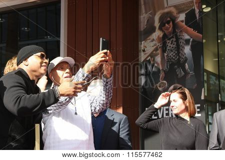 LOS ANGELES - JAN 21:  LL Cool J, Russell Simmons at the LL Cool J Hollywood Walk of Fame Ceremony at the Hollywood and Highland on January 21, 2016 in Los Angeles, CA