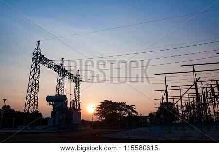 Transformer High-voltage Substation Danger Disconnect