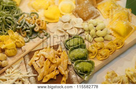 Ravioli And Tortellini Homemade With Eggs And Flour  And Water
