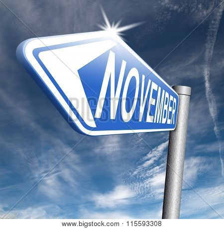 November fall or autumn next month or event schedule calendar