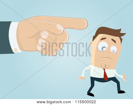 businessman is getting fired