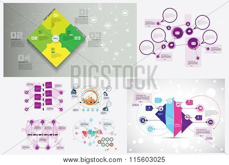Business infographic template for interactive data communication poster