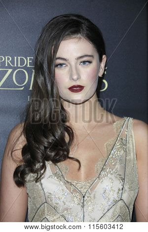 LOS ANGELES - JAN 21:  Millie Brady at the Pride And Prejudice And Zombies Premiere at the Harmony Gold Theatre on January 21, 2016 in Los Angeles, CA