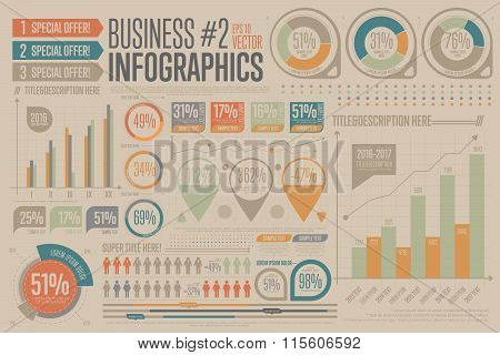 Business Infographic vector elements. Graph, icon.