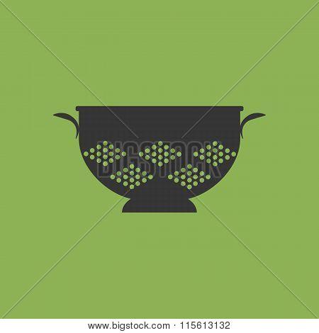 Kitchen Colander Strainer Icon