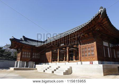 Gyeongbok Palace Wood Building Landmark Tourism In Korea
